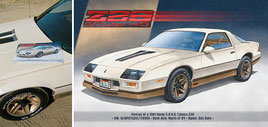 Camaro Z28 1984 art print from Lemireart