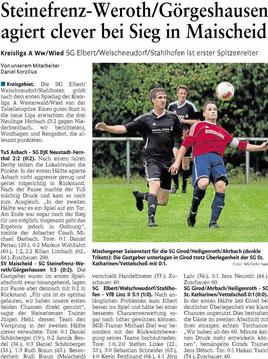 Quelle: Westerwälder Zeitung vom 19.08.2013