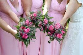 Brautjungfern bei der Hochzeit