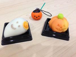 季節の和菓子と10月の頭皮鍼マスコット
