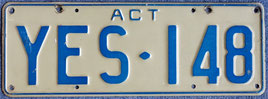 Nummernschild aus Australien