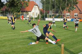 Foto: Überraschend viel Defensivarbeit für die Viktoria in der ersten Hälfte