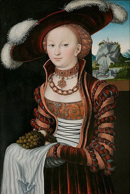 Portrait of a young woman with luxurious JEWELLERY and a beautiful hairnet (flickr, picturen by ErgSap) (Renaissance fashion dress jewellery necklace)
