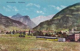 510-025 Engadin Press Co., Samedan  Karte gelaufen 13.6.1914