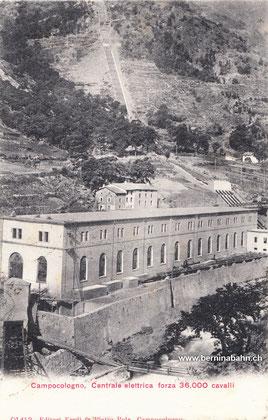 700-004 Editori Eredi fn. Pietro Pola - Campocologno. Karte gelaufen 25.1.1908