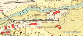 117-004 Kartenausschnitt, Katasterplan Gde. St. Moritz 1923. Archiv RhB