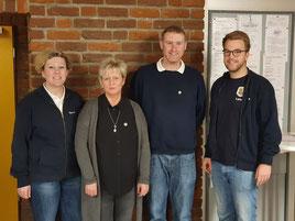 2. Vorsitzende Maria Brunken, Sabine Böttcher Schult (20 Jahre), 1. Vorsitzender Alexander Petrauskas (20 Jahre), Lars Stollberger (2. Kassenprüfer).