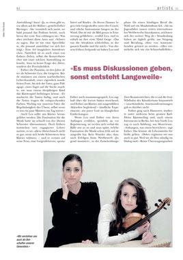 Deutsche Geigerin Lea Birringer beim schweizer Musikfestival in Davos