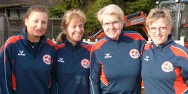 Das NISA-Frauenteam mit Hella Meyer, Patricia Kirsch, Gisela Hintzmann und unsere Busch-Boulerin Barbara (v.l.)