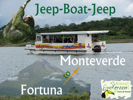 Jeep - Boat - Jeep Arenal -Monteverde