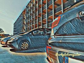 P8 und P9 Parkhaus am Flughafen Hamburg