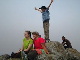 Elijah reaches the top of a mountain
