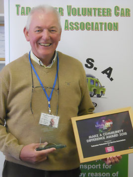 Paul with the award
