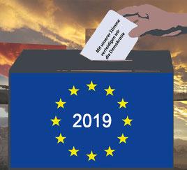 EU-Wahl. Mit unserer Stimme verteidigen wir die Demokratie. Bild:spagra