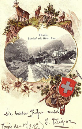 Gebrüder Metz Basel, gestempelt 14. August 1902