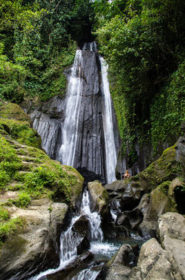 Dusun Kuning Waterfall. Bangli regency in Bali.