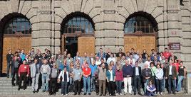 Ein Teil der Tagungsteilnehmer der 37. Hauptversammlung der DEUQUA in Innsbruck. (Foto: C. Spötl)