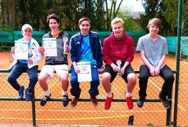 Luca, Nils, Kristzian, Florian, Max