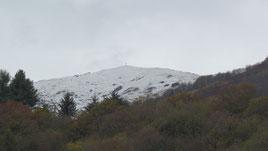 Il Monte Croce con la prima neve