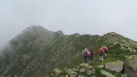 La Cima Verosso, a sinistra m. 2444
