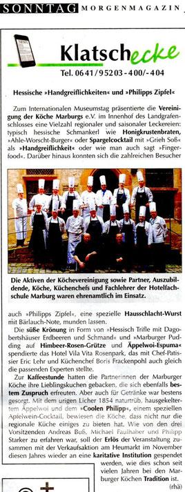 Im Einsatz für caritative Zwecke... die Aktiven der Vereinung der Köche Marburgs e.V.