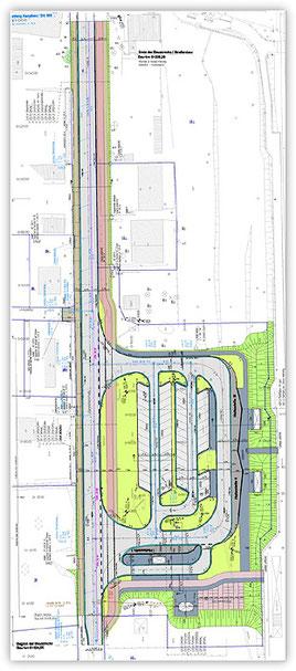 Grafik: Konzeption eines zentralen Omnibus Bahnhofs