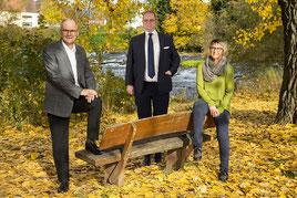 Foto v.l.: Holger Hartert, Dr. Alexander Wagner, Anja Fay.