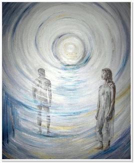 """Michelangelo beschrieb es so: """"Du bist nicht fort, du wechselst nur die Räume. Du lebst in uns und gehst durch unsere Träume"""""""