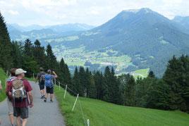 Herrliche Ausblicke auf dem Rückweg nach Schwarzenberg.
