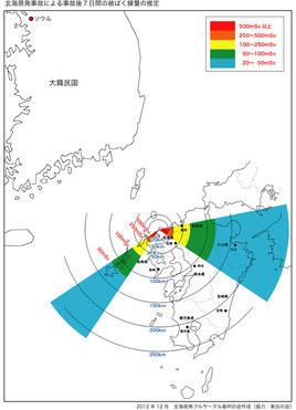 玄海原発事故による事故後7日間の被ばく線量の推定 (PDFダウンロードは下)