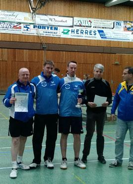 Foto des Siegerteams mit Winni, Dirk und Leo (von links nach rechts)