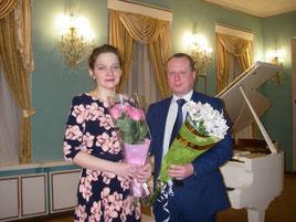 После концерта с Начальником Департамента Смоленской области по культуре и туризму С. А. Черняковым