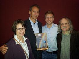 Carmen Spiekermann, Jörg Krieter, Robin Dekker und Laudator Willi Stroband