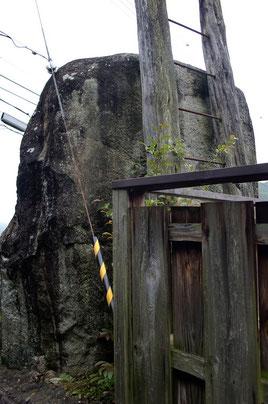 裏側から見た神籠石