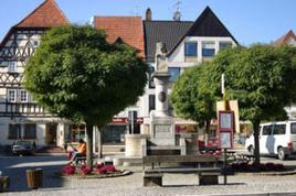 Foto: Der Marktplatz in Mellrichstadt