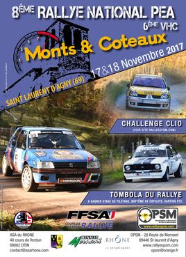 Affiche rallye monts et coteaux 2017