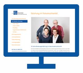 Webseite erstellt Bioladen und Beratung