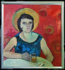 Neuerwerbung 2018: Frau mit Sonnenhut von Thea Hucke