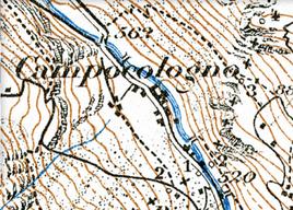 700-010 Ausschnitt aus historischer Siegfriedkarte. Copyright Landestopographie der Schweiz