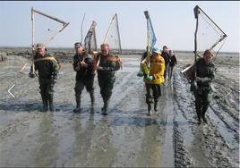 Retour de pêche traditionnelle en baie de Cancale