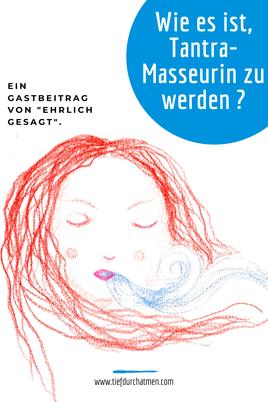 """© Madame Mimzi - Zeichnung von einer Frau, die ausatmet. """"Wie ist es, Tantra-Masseurin zu werden?"""". Ein Gastbeitrag von """"ehrlich gesagt."""""""