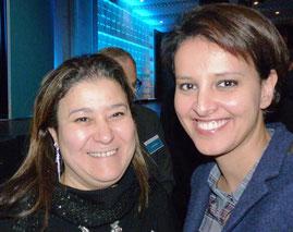 Mina Daban et Najat Vallaud-Belkacem, Ministre des Droits des femmes, porte-parole du gouvernement