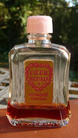 COEUR ENCHAINE - BOUCHON BAKELITE ROSE - FLACON 1ère TAILLE