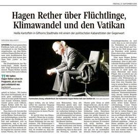 Hagen Rether über Flüchtlinge, Klimawandel und den Vatikan von Gesa Walkhoff