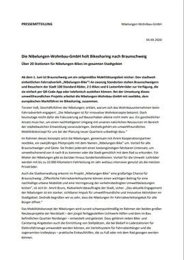 Arbeitsprobe Pressemeldung für Wohnbau-Unternehmen