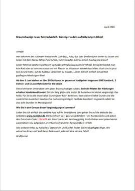 Arbeitsprobe Anschreiben Mailing für Wohnbau-Unternehmen