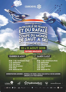 Coupe du Monde Saut à Ski – Courchevel 2018 - Rafale Solo Display , Patrouille de France - ski jumping world cup courcheve 2018l