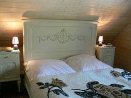 Schlafzimmer Prinzenzimmer der Ferienwohnung Wald-Blick