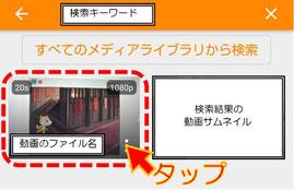 VLCの動画選択画面