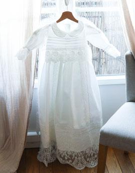 robe de baptême, baptême, plumeti, traditionnelle, emilie plumeti